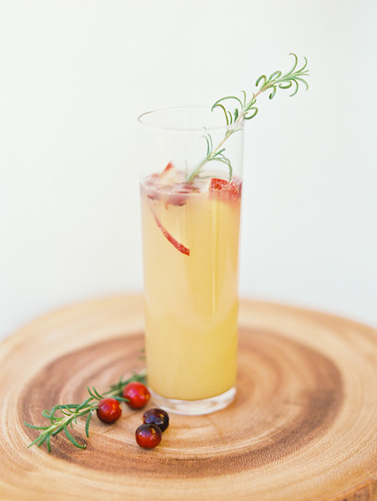 Sparkling Ginger Pear Cranberry Cocktail