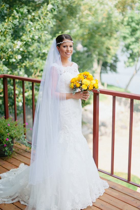 lace wedding gown from Jenni's Bridal Boutique