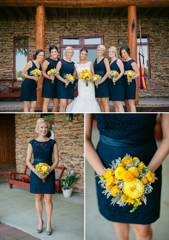 Navy And Yellow Wedding In South Dakota