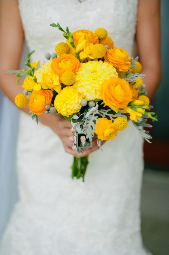 yellow bridal bouquet by lily's floral design and gifts