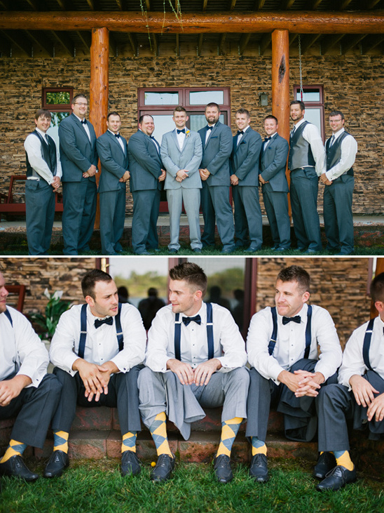 gray and yellow argyle socks for the groomsmen