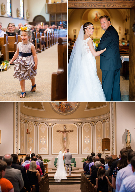 formal church wedding ceremony