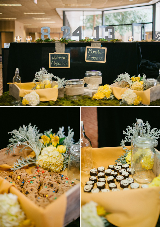 cookie bar with chalkboard labels