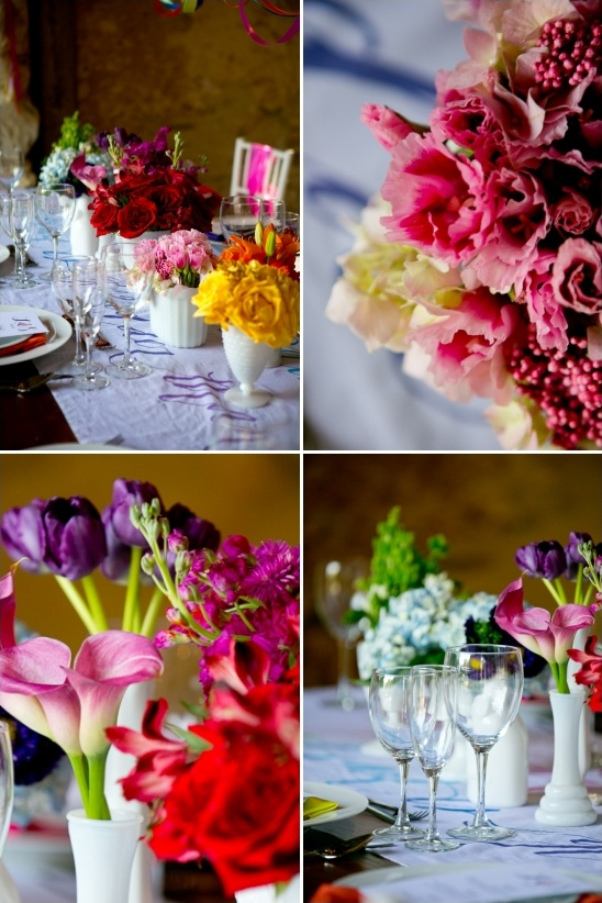rainbow floral arrangements