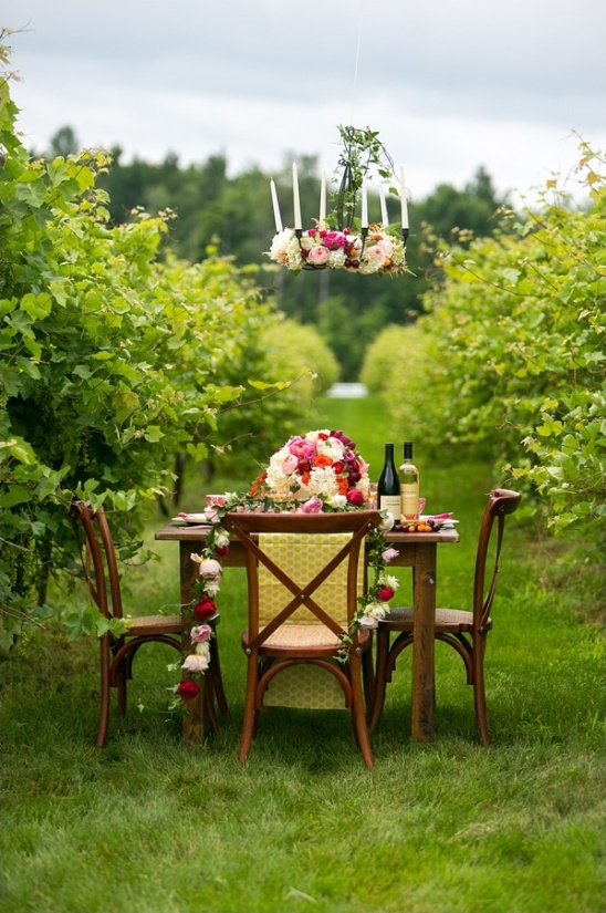 elegant floral table design
