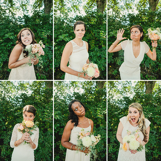 goofy bridesmaid faces