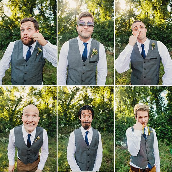 goofy groomsmen faces
