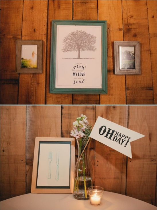 custom signage by the groom