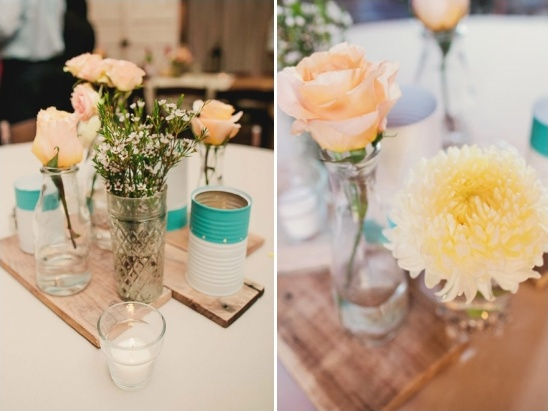 rustic upcycled centerpieces