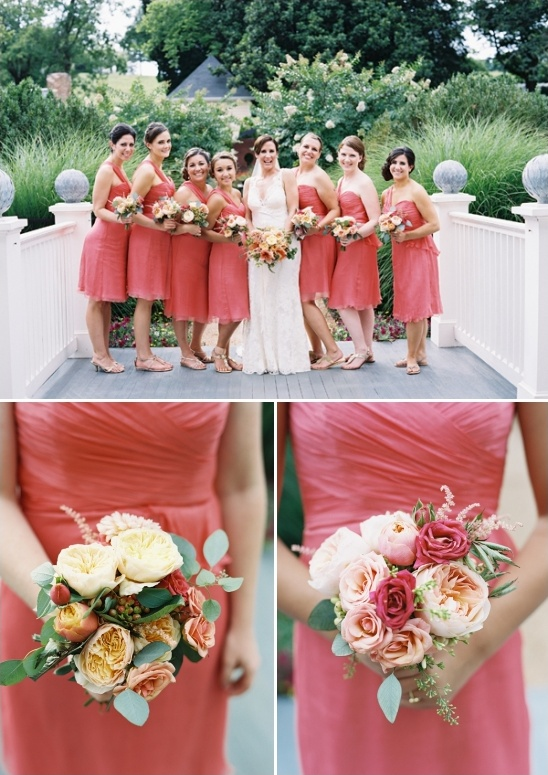 peach bridesmaid ideas