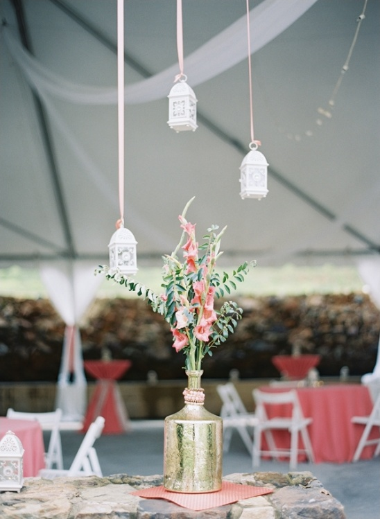 hang lanterns from ribbons