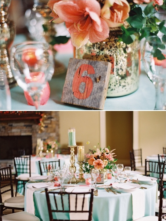 hand painted wooden table numbers