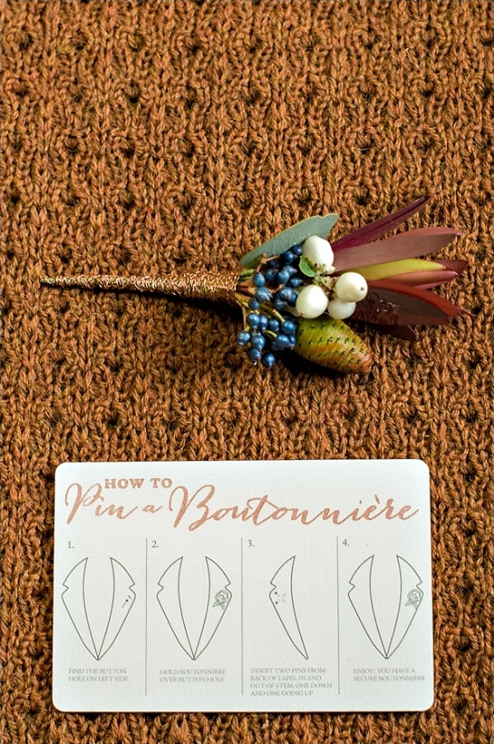 how to pin a boutonniere instructions