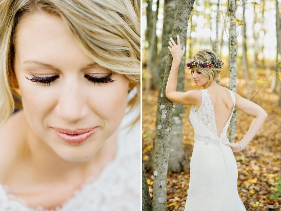 sweet copper wedding makeup by michelle cudmore