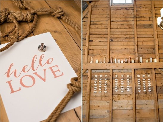 hello love wedding sign and escort card station