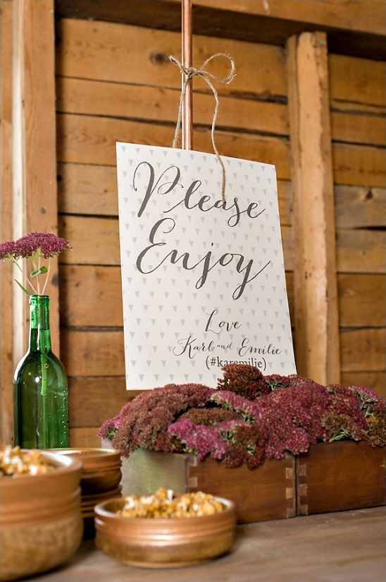 please enjoy dessert table sign