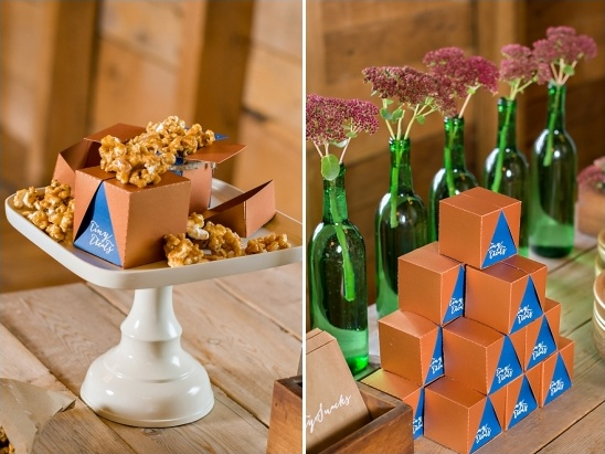 carmel corn wedding favors