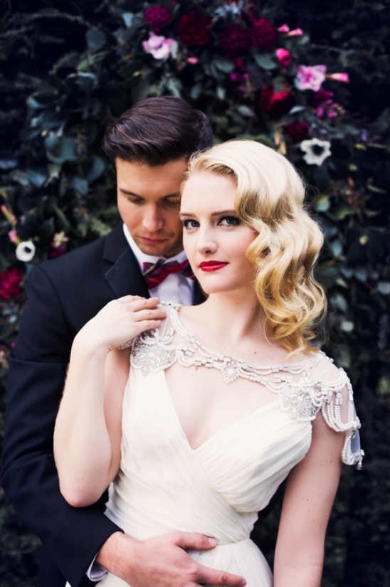 glamorous bride and groom looks