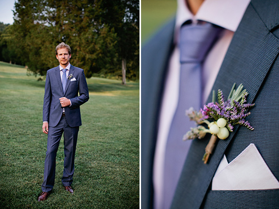 blue and lavender groom