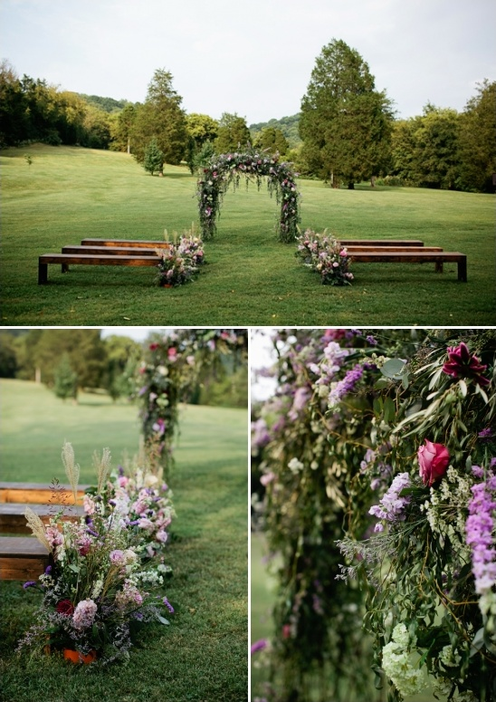 wildflower wedding ceremony decor