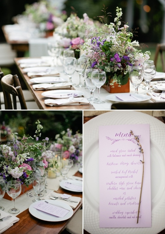 lavender inspired menu
