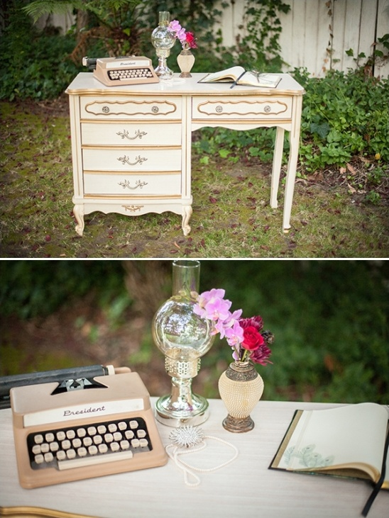 Roaring Twenties Wedding Ideas Vintage Guestbook Table