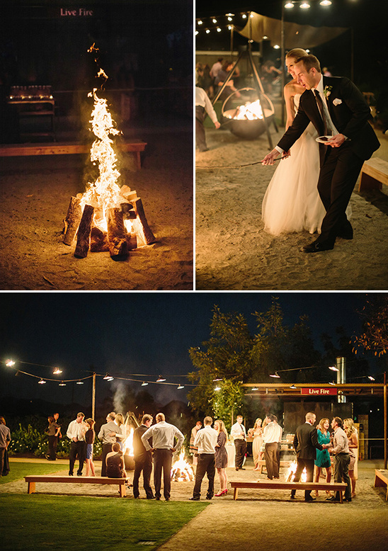 wedding camp fire