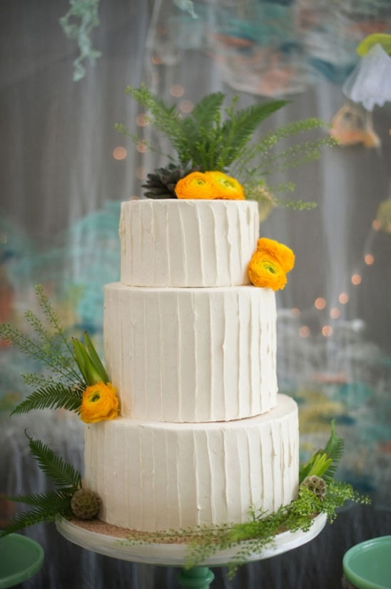 white buttercream wedding cake by sweet heather anne
