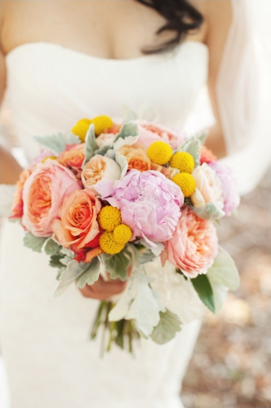 summery wedding bouquet by dragonfly floral