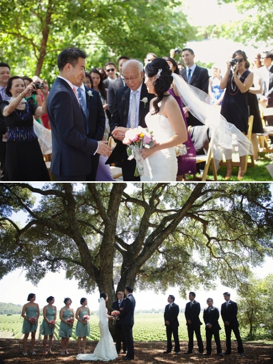 wedding at healdsburg country gardens