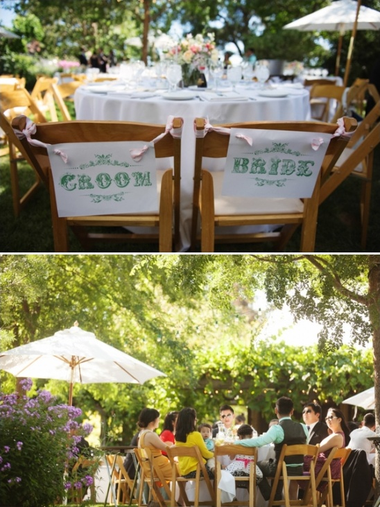 Chic Mint And Coral Wedding At Healdsburg Country Gardens