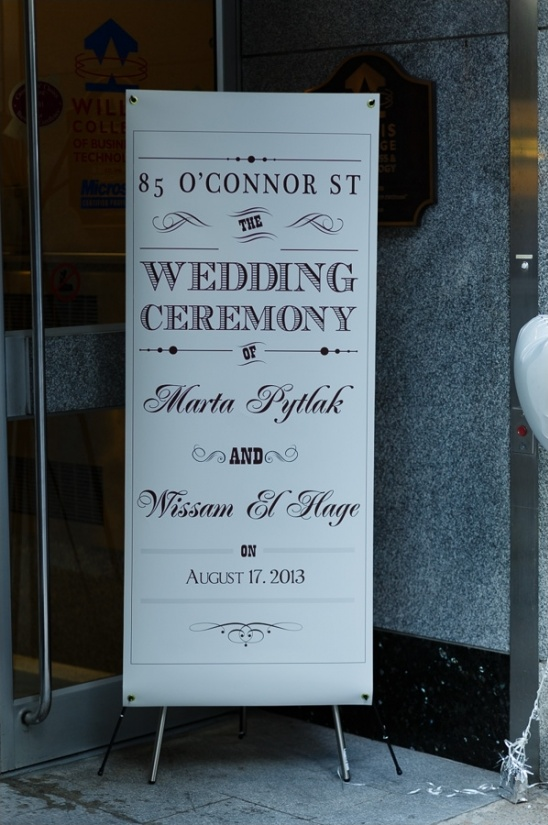 super large wedding sign