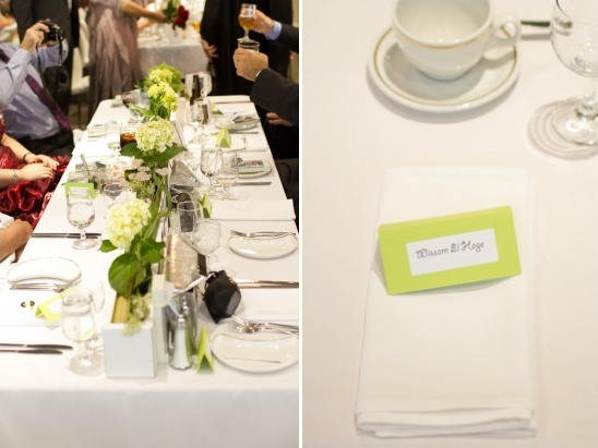simple wedding reception