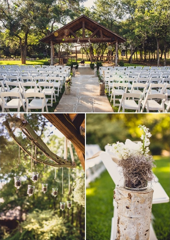 outdoor wedding ceremony at texas old town