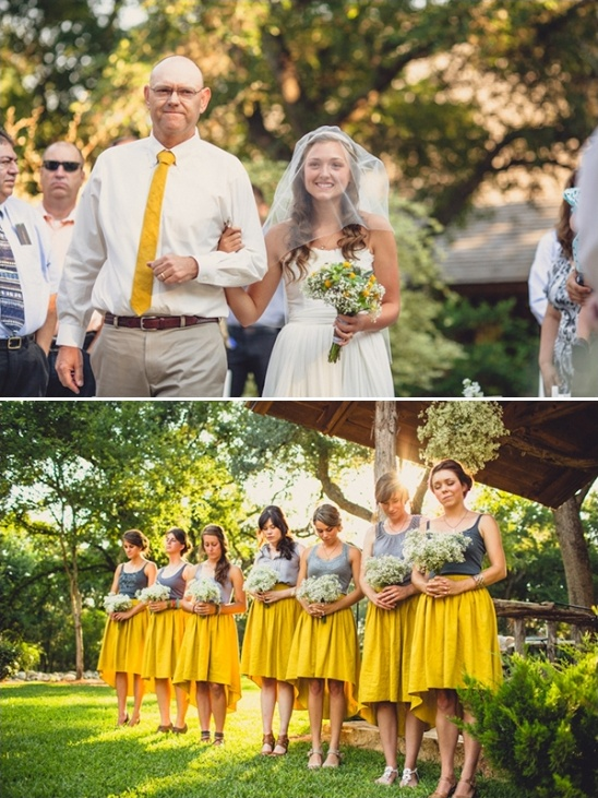 simple skirt and top bridesmaid