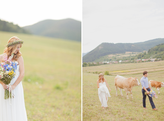 Bridal portrait under Slovak mountains