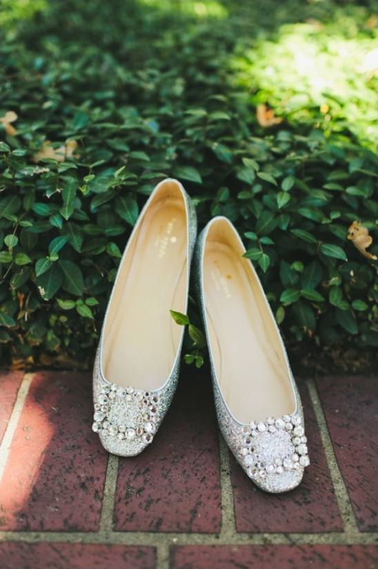 silver kate spade wedding shoes