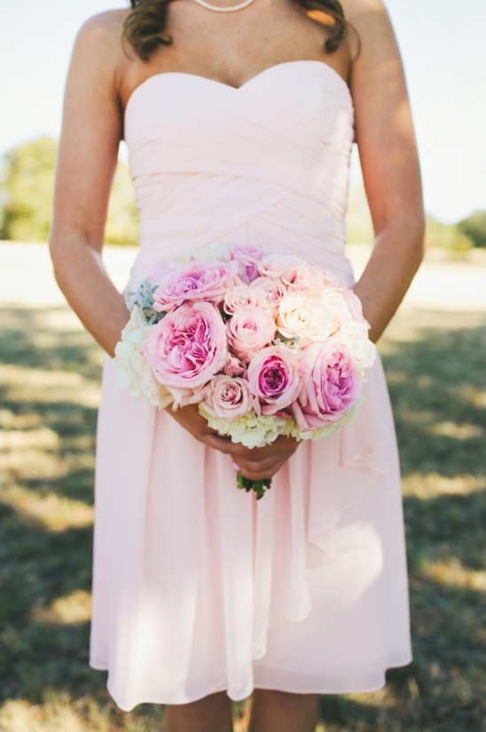 pink wedding bouquet by coco fleur events