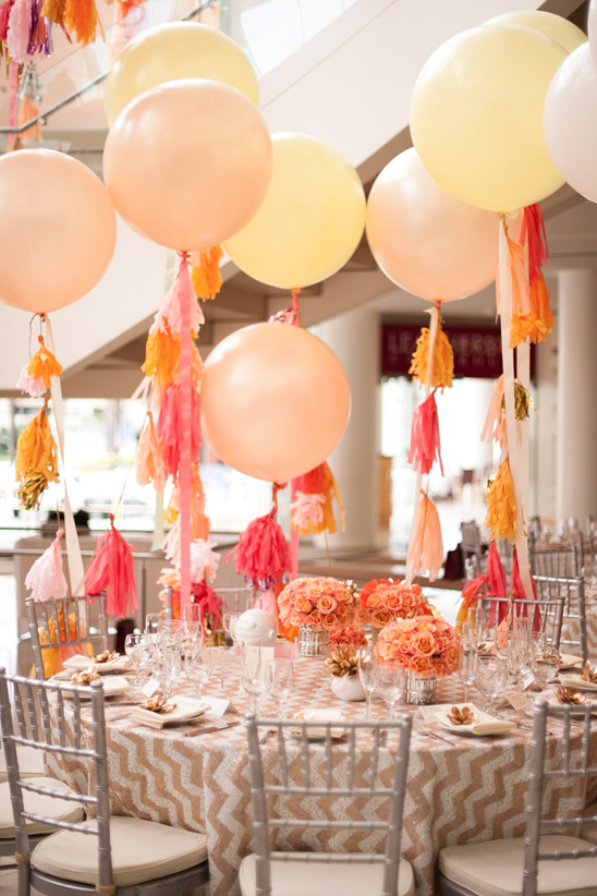 giant balloon used for reception decor