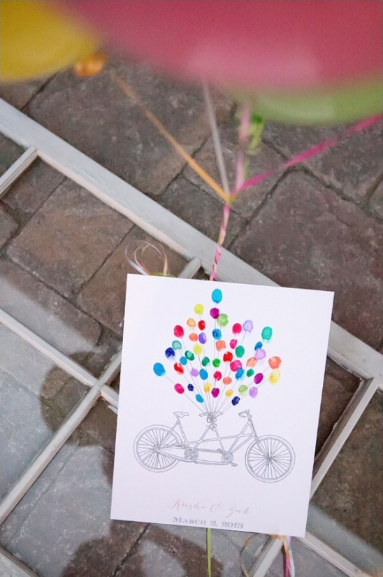 free balloon thumbprint guestbook