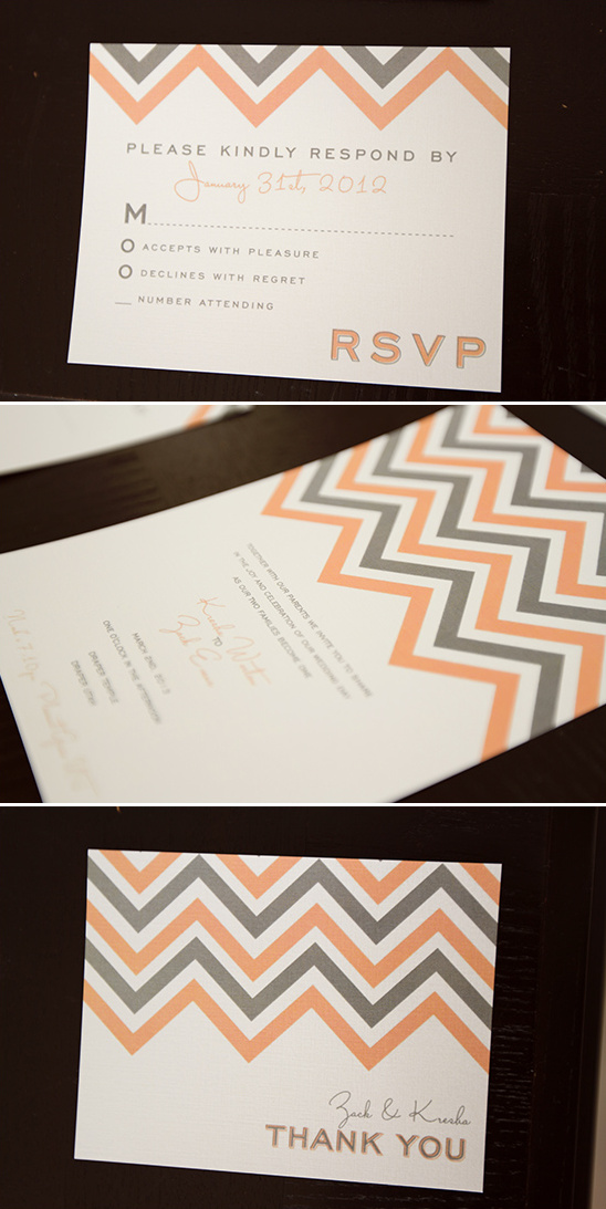 free chevron wedding invite