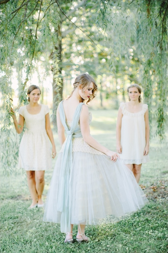tie back blue and white gown