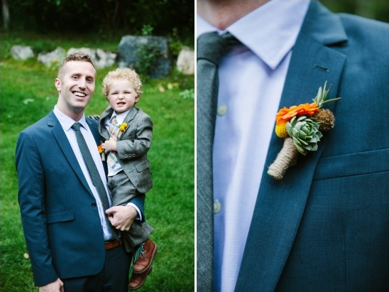ring bearer and groom boutonniere