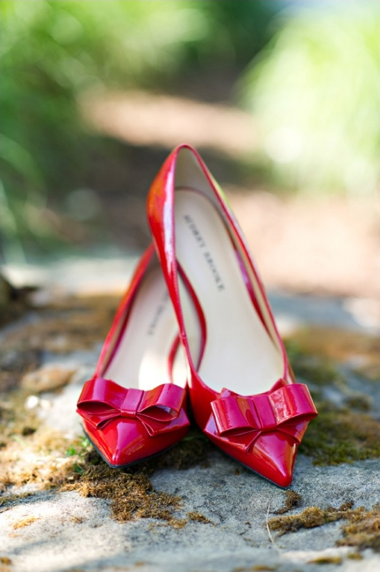 adorable red heels by audrey brooke