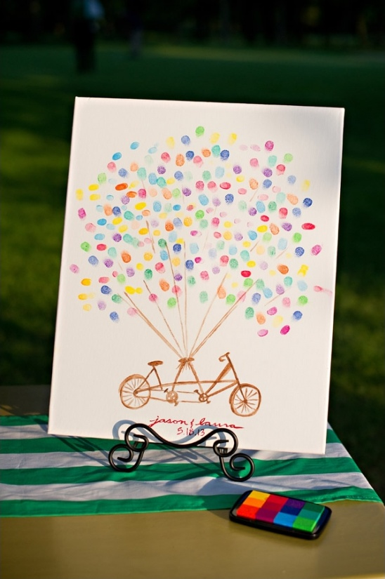 thumbprint picture guestbook idea