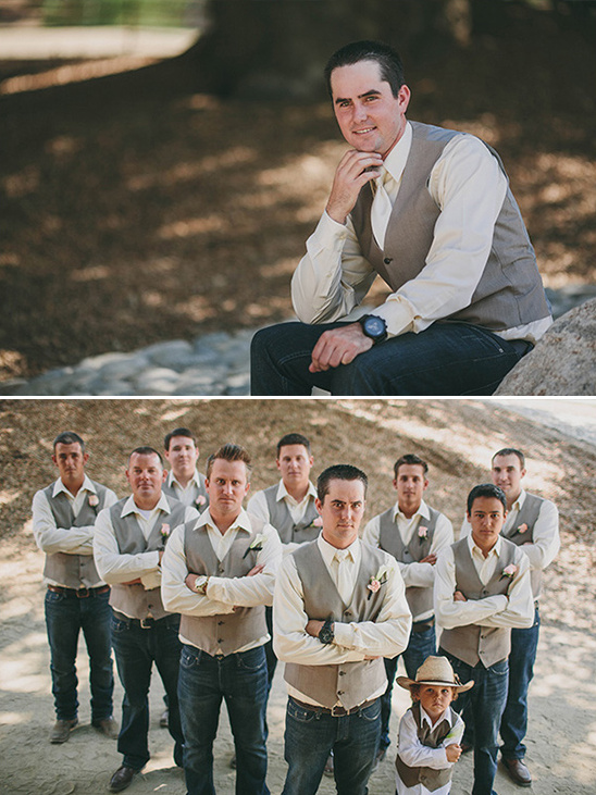 jean and vest groomsmen look