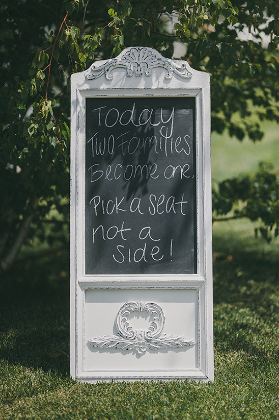 vintage chalkboard welcome sign
