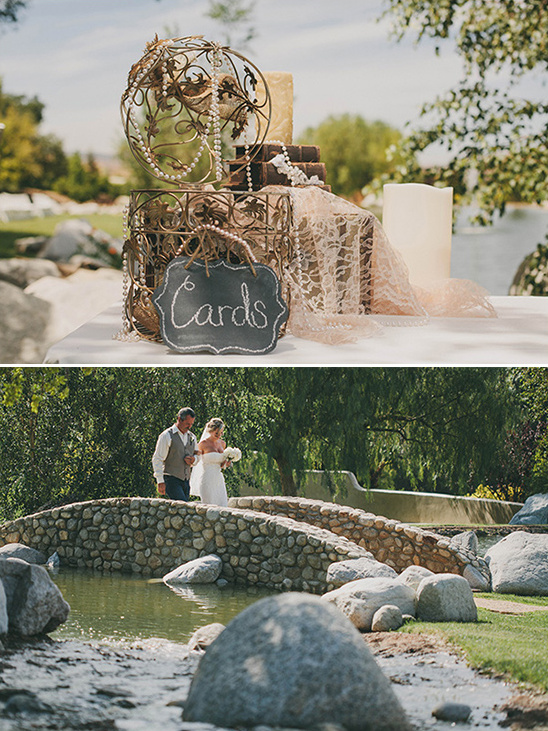 welcome table and father and bride entrance