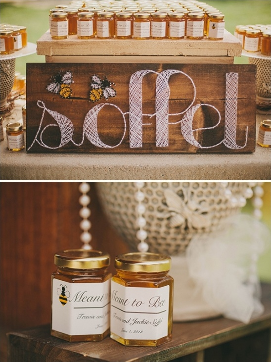 meant to bee wedding favors