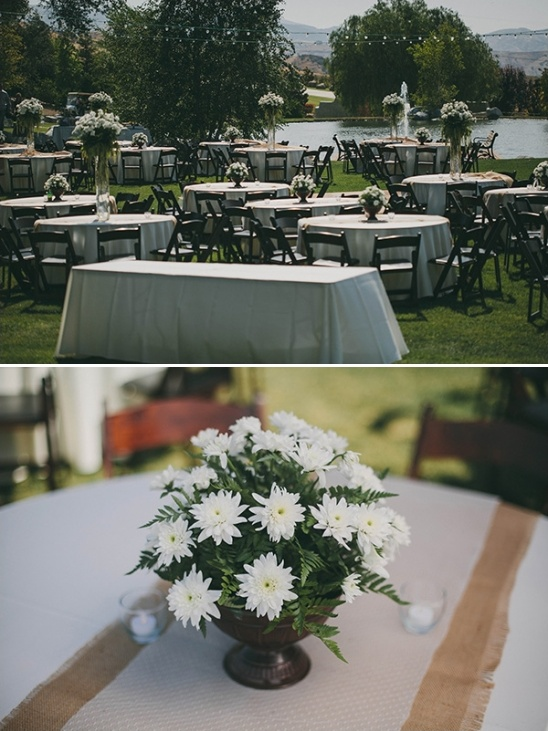 simple outdoor wedding reception decor